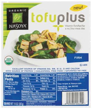 Nasoya Vitamin Fortified Firm Tofu Plus 14 Oz Tub
