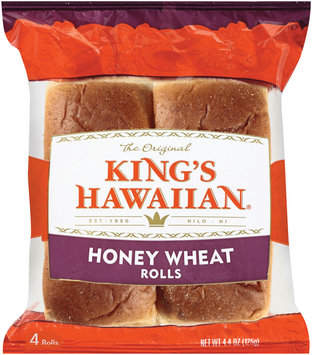 King's Hawaiian® Honey Wheat Rolls 4 ct Package