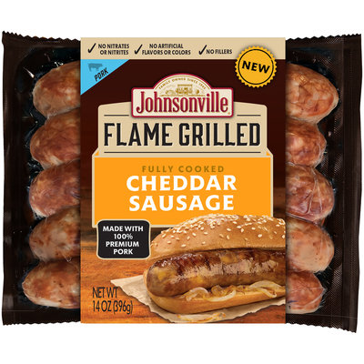 Johnsonville Flame Grilled Fully Cooked Cheddar Sausage