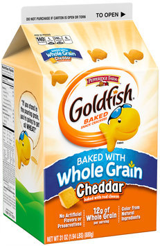 Pepperidge Farm® Goldfish® Baked with Whole Grain Cheddar Baked Snack Crackers 31 oz. Carton