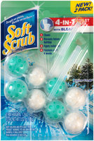 Soft Scrub® 4-in-1 Toilet Care with Bleach Alpine Fresh™ Rim Hangers 3.52 oz. Carded Pack