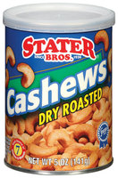 Stater Bros. Dry Roasted Cashews 5 Oz Can