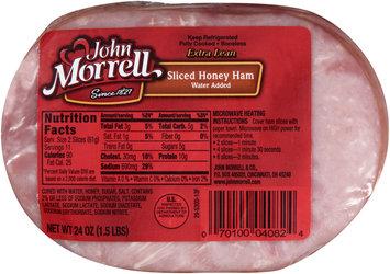 John Morrell® Sliced Honey Ham Water Added 24 oz. Pack