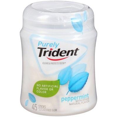 Purely Trident Peppermint Sugar Free Gum 45 ct Bottle