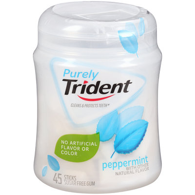 Purely Trident Peppermint Sugar Free Gum 45 ct Bottle