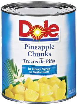 Dole Canned Fruit Chunks In Heavy Syrup Pineapple 108 Oz Can