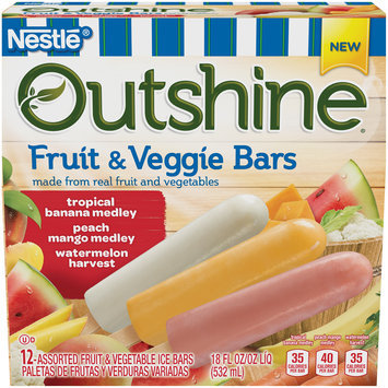 OUTSHINE Fruit & Veggie Bars Variety Pack, 12 ct Box
