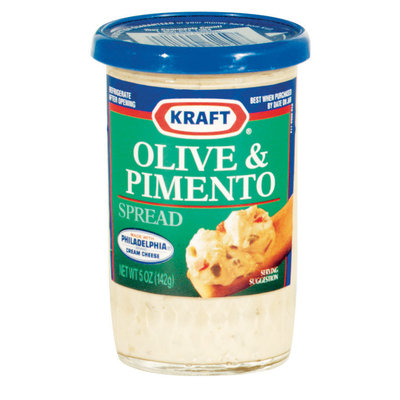 Kraft Cheese Spreads Olive & Pimento Cheese Spread 5 Oz Jar