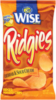Wise Cheddar & Sour Cream Ridged Potato Chips 4.5 Oz Bag
