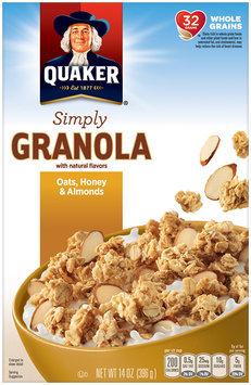 Quaker Natural Cereal Oats & Honey Granola 14 Oz Box