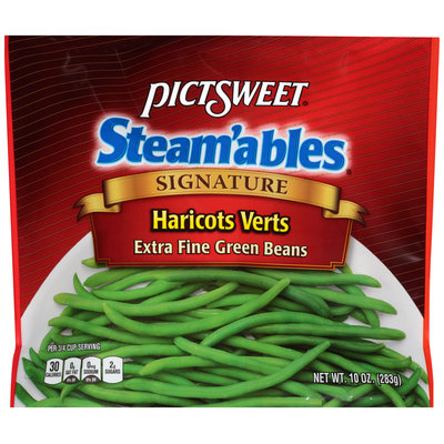 Pictsweet® Steam'ables® Signature Haricots Verts Extra Fine Green Beans 10 oz. Package