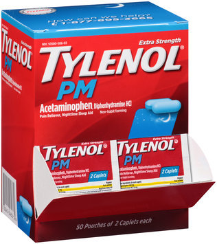 Tylenol® PM Extra Strength Caplets 50-2 ct Pouches