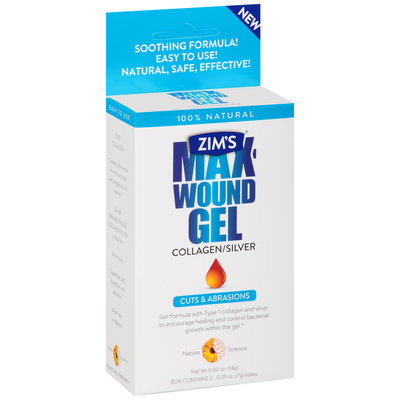 Zim's® Max-Wound Gel Collagen/Silver 2-0.25 oz. Tubes