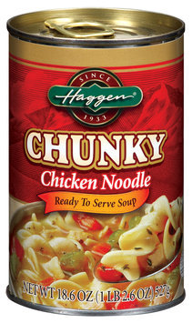Haggen Chunky Chicken Noodle Soup 18.6 Oz Can