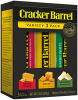 Cracker Barrel Cheddar Cheese Variety Pack 3-8 oz. Chunks