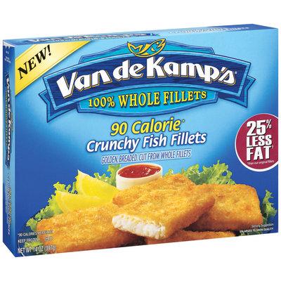 Van De Kamp's Crunchy 90 Calorie Fish Fillets 14 Oz Box