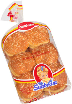 Sunbeam® Seeded Hamburger Buns 12 ct Bag