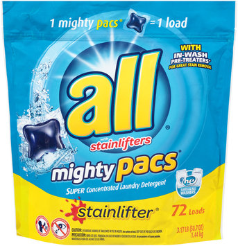all® stainlifter® mighty pacs® Laundry Detergent 72 Loads 50.7 oz. Pouch
