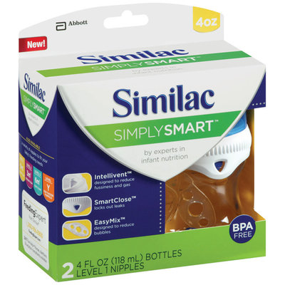 Similac Simply Smart™ 4 fl. oz. Bottle 2 ct Package