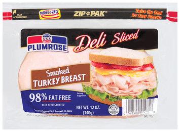 Plumrose Smoked Deli Sliced Turkey Breast 12 Oz Zip Pak
