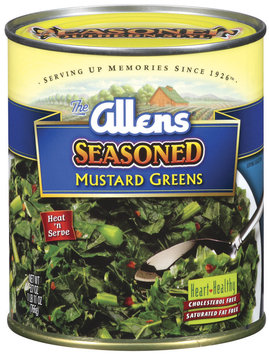 The Allens Seasoned Mustard Greens 27 Oz Can