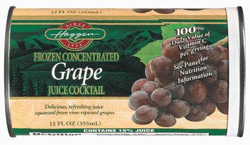Haggen Grape Juice Cocktail 12 Oz Can