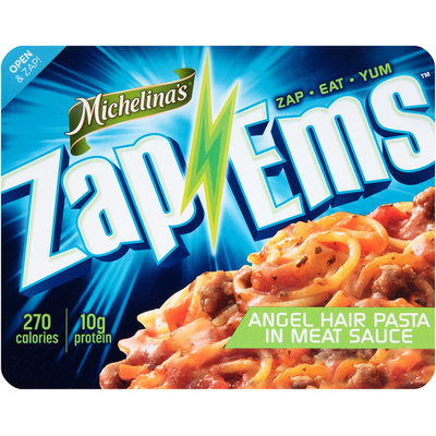 Michelina's® Zap 'Ems™ Angel Hair Pasta in Meat Sauce 7.5 oz. Tray