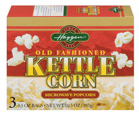 Haggen Old Fashioned Kettle Corn 3.5 Oz Microwave Popcorn 3 Ct Box
