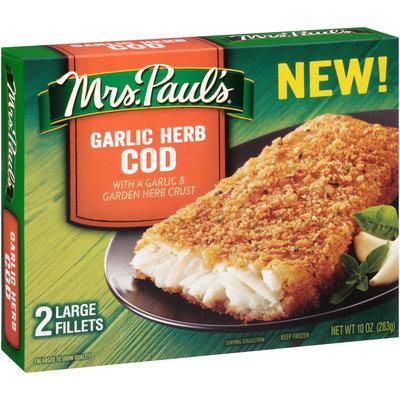 Mrs. Paul's® Garlic Herb Cod Fillets 2 ct Box