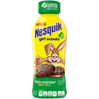 Nestle Nesquik Girl Scouts Thin Mint Flavored Low Fat Milk Bottle