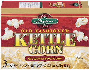 Haggen Old Fashioned Kettle Corn 3.3 Oz Bags Microwave Popcorn 3 Ct Box