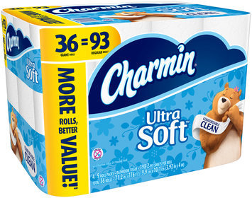 Ultra Charmin Ultra Soft Toilet Paper 36 Giant Rolls