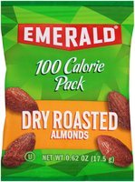 Emerald® 100 Calorie Pack Dry Roasted Almonds 0.62 oz. Pack