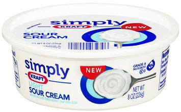 Simply Kraft Light Sour Cream 8 oz Plastic Tub