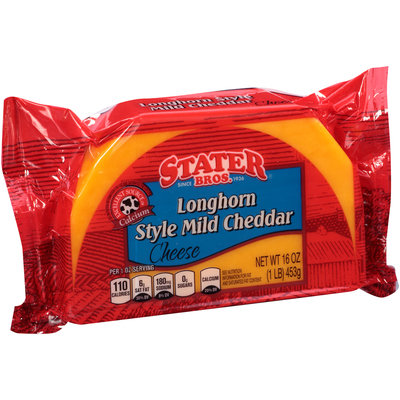 Stater Bros.® Longhorn Style Mild Cheddar Cheese