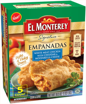 El Monterey™ Signature White Meat Chicken with Cheddar & Mozzarella Cheese Empanadas 16.5 oz. Box