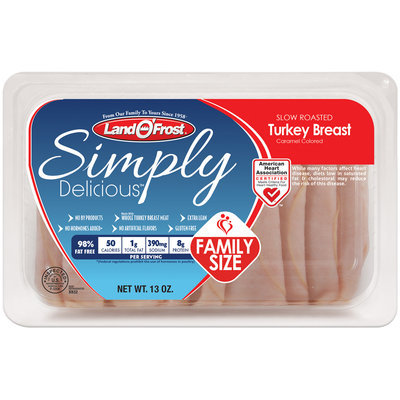 Land O'Frost® Simply Delicious™ Slow Roasted Turkey Breast 13 oz. Tray