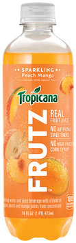Tropicana® Frutz™ Peach Mango Sparkling Water And Juice