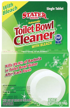 Stater Bros. W/Bleach Automatic Single Tablet Toilet Bowl Cleaner 3.5 Oz Peg