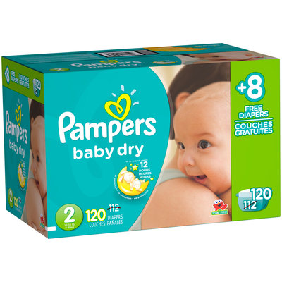 Baby Dry Pampers Baby Dry Diapers Size 2 Bonus Pack 120 Count