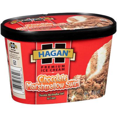 Hagan® Chocolate Marshmallow Swirl Premium Ice Cream 1.5 qt Tub