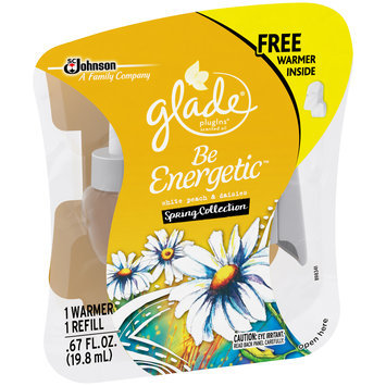 Glade® PlugIns® Be Energetic™ White Peach & Daisies Spring Collection Scented Oil Starter Kit 0.67 fl. oz. Pack