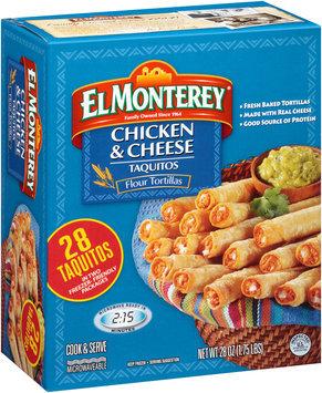 El Monterey® Chicken & Cheese Flour Tortilla Taquitos 28 oz. Box