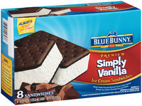 Blue Bunny® Premium Simply Vanilla™ Ice Cream Sandwiches 8-4.25 fl. oz. Sandwiches