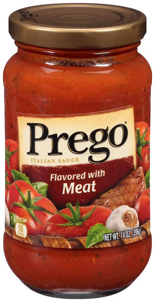 Prego® Flavored with Meat Italian Sauce 14 oz. Jar