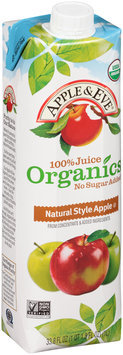 Apple & Eve® 100% Juice Organics Natural Style Apple Juice 33.8 fl. oz. Carton