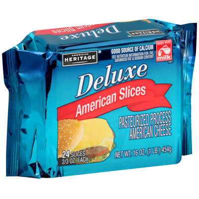 American Heritage® Deluxe American Cheese Slices 24-0.667 oz. Pack