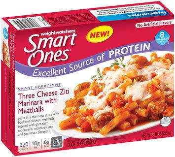 Weight Watchers Smart Ones® Three Cheese Ziti Marinara with Meatballs 9 oz. Box