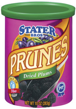 Stater Bros. Dried Plums Prunes 10 Oz Canister