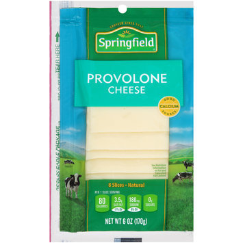 Springfield® Sliced Provolone Cheese 6 oz.